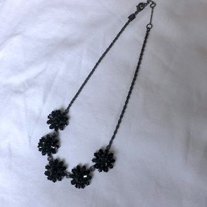 Dressy black mid length necklace